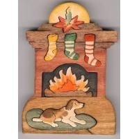 CH104D-BY THE HEARTH-DOG