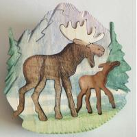 OR124 MOOSE ORNAMENT