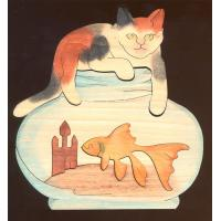PC010-KITTEN-GOLDFISH BOWL