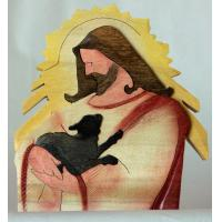 R005-JESUS WITH BLACK LAMB