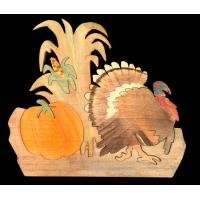TH01-TURKEY IN PUMKIN FIELD
